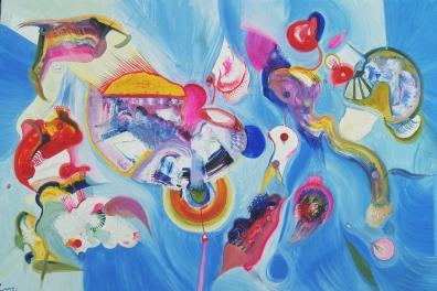 2008Eggshells.90x70cm.Oil on canvas