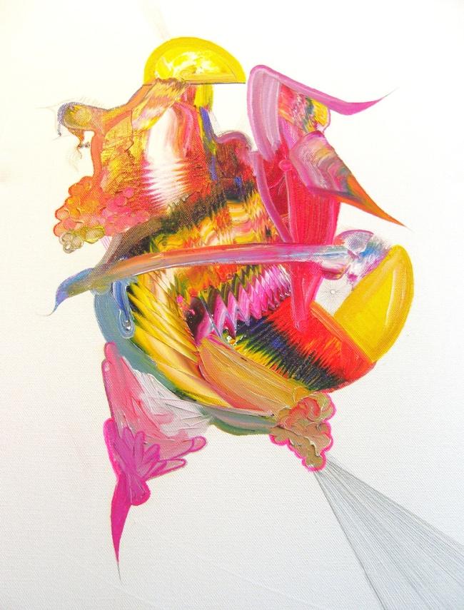Garza.40x50cm.Oil on canvas.2009